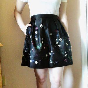 H&M Silky Floral Skirt